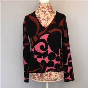Ann Taylor red pink v neck sweater